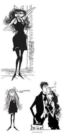"""Some illustrations from """" The Terror of St. Trinians"""" by  Ronald Searle"""