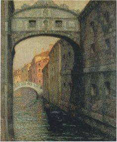 Venice the Canal of Sighs - Henri Le Sidaner