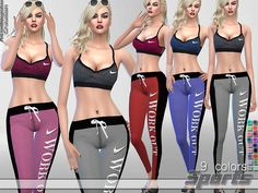 Sport Set by Pinkzombiecupcakes at TSR via Sims 4 Updates