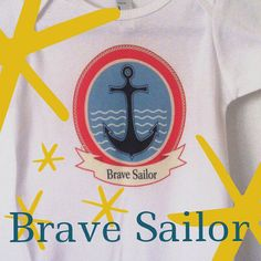 Onesie Brave Sailor on Etsy, $19.00