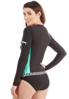 ce78c06679 Surfing the Swells One-Piece Swimsuit. Standing tall atop your surfboard in  this striped