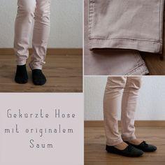 von mri: Gekürzte Jeans mit originalem Saum. shorten jeans keeping the original hem tutorial