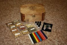 WITCHES STARTER KIT , Spell Box,Altar Kit,Wiccan Herbs