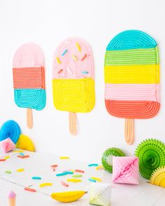 Popsicle Balloon Wall (Oh Happy Day! Balloon Backdrop, Balloon Wall, Balloon Decorations, Balloons, Balloon Columns, Festa Party, Diy Party, Party Ideas, Photo Ballon