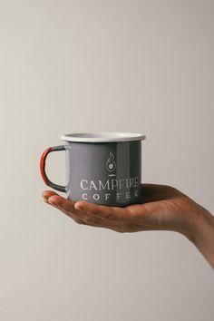 Early Bay Window Campervan 11 oz Enamel Camping Mug