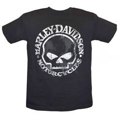 Harley-Davidson Men's T-Shirt, Hand Made Willie G Skull Distressed 30294030 #HarleyDavidson #GraphicTee