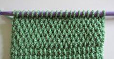 12 different Tunisian stitches - I haven't used my new hooks yet, this will get me started! | Crocheting | Pinterest | Stitches, Tunisian Crochet and Crochet S…