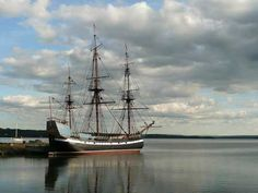 Hector Heritage Quay in Pictou - with the Tall Ship Hector
