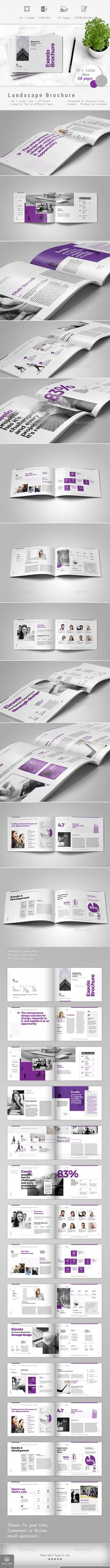 Brochure Template InDesign INDD - 28 Pages, A4 and US Letter Size