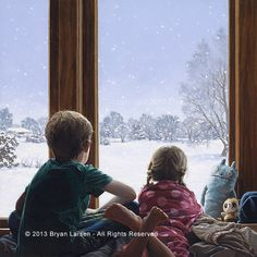 Let it Snow by Bryan Larsen at Quent Cordair Fine Art - The Finest in Romantic…
