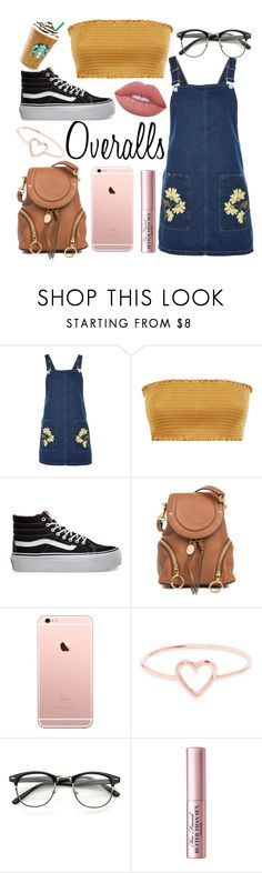 """""""Thx @magick-bean @summertime-sadness @juliette-grimm for being the 1st 3 people to like my Last post :)😁"""" by christina123green ❤ liked on Polyvore featuring Topshop, Vans, See by Chloé, Love Is, Too Faced Cosmetics and Lime Crime"""