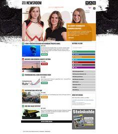 Startseite mit großem Headerbild (Desktop-Ansicht)