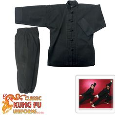 Black Kung Fu Uniform that I found with frog buttons