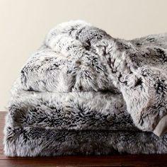 Faux Fur Throw - Gray Beige Ombre   Winners/Homesense Tahari or Bella Lux Brand