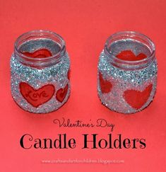 DIY Valentine's Day Treat Jar or Candle Holder - Recycled Craft for Kids - only with tissue trees or the like