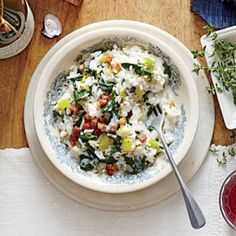 Spinach and Pancetta Fake-Out Risotto Recipe | Cooking Light