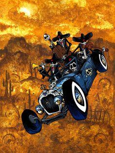 Los Compadres Muertos on www.davidlozeau.com