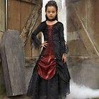 Chasing Fireflies Girls Gothic Vampire Vampira Halloween Costume Size 6