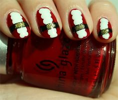 Swatch and Learn: Santa Claus Nails Tutorial