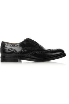 Church's The Burwood glossed-leather brogues | NET-A-PORTER