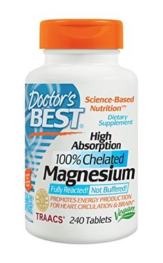 Doctor's Best High Absorption Magnesium (200 Mg Elemental), 240-Count - http://darrenblogs.com/2016/03/doctors-best-high-absorption-magnesium-200-mg-elemental-240-count/