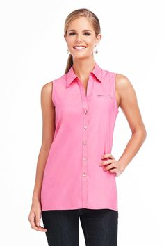 Foxcroft Non-Iron Essential Lara Sleeveless Tunic | Foxcroft Clothing