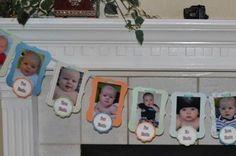 Birthday Decoration, First Birthday Photo Banner, Custom Theme, Party Decor, First Boy Birthday, Girl Birthday. $31.50, via Etsy. birthday-party-ideas