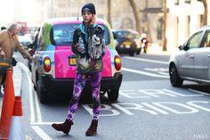 Print Leggings as seen on Chloe Norgaard at London Fashion Week 2013