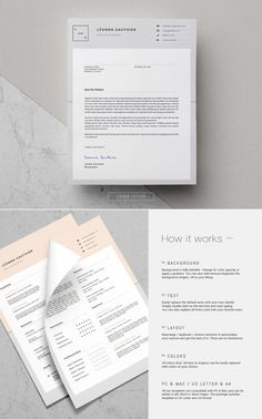 Resume Template + Cover Letter for MS Word _ 3 Page Resume Design _ Creative Resume _ Teacher CV _ C Free Cover Letter, Cover Letter Template, Simple Resume, Creative Resume, Cv Design, Resume Design, Microsoft Word 2010, Branding Kit, Resume Template Free
