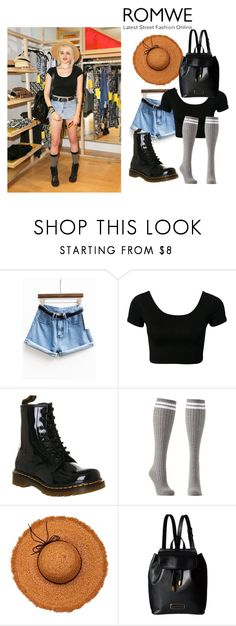 """sky"" by estellablondie ❤ liked on Polyvore featuring Dr. Martens, Charlotte Russe, La Fiorentina and Marc by Marc Jacobs"