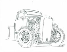 crazy car coloring pages - photo#21
