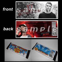 Sam hunt vip passes with lanyards sam hunt birthday invitations sam hunt candy bar wrappers m4hsunfo