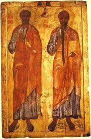 "The Moorish Jews (Original depictions of Peter and Paul, pre-Renaissance ""white washing"")"