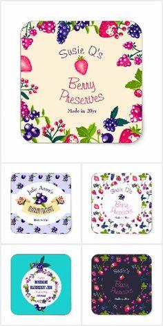 Jam Jellies Preserves Sticker Labels