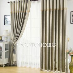 Blackout Camel Floral/Botanical Polyester Modern/Graceful/Stylish Living room curtains (Two Panels)