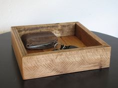 Oak Valet Tray  Catchall  Dresser Caddy  by TheOldPlankWoodworks