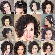 Curly hair is many things, BORING is not one of them. There are so many ways to switch up your hair routine for a totally different… Curly Hair Styles, Haircuts For Curly Hair, Medium Bob Hairstyles, Curly Hair Cuts, Short Curly Hair, Short Hair Cuts, Straight Hairstyles, 1950s Hairstyles, Boy Haircuts