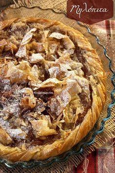 Greek Sweets, Greek Desserts, Apple Desserts, Greek Recipes, Apple Recipes, Cookbook Recipes, Sweets Recipes, Cooking Recipes, Greek Cookbook