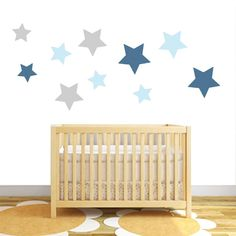 Available in different colous: pack of 10 star fabric wall stickers by littleprints | notonthehighstreet.com