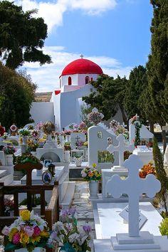 Cemetery in Mykonos, Greece