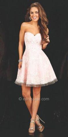 Sienna Prom Dress by Mon Cheri Shorts  #edressme