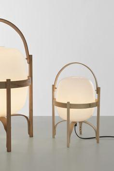 Santa Cole US lighting store buy Cesta Table Lamp designed by Miguel Mila Cesta Light is in stock - Ships Next Day Light Table, Lamp Light, Modern Lighting, Lighting Design, Santa Cole, Luminaire Mural, Handmade Lamps, Led Lampe, Lamp Design