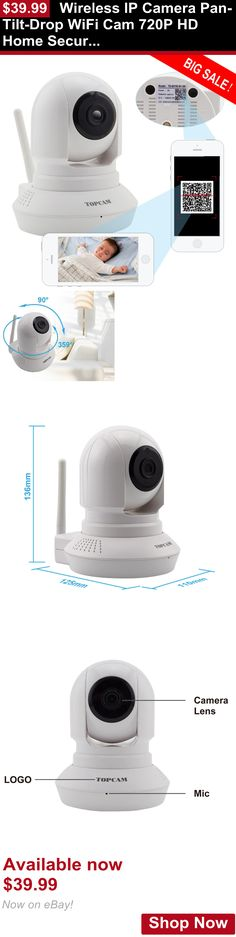 Baby Safety Monitors: Wireless Ip Camera Pan-Tilt-Drop Wifi Cam 720P Hd Home Security Baby Monitor BUY IT NOW ONLY: $39.99