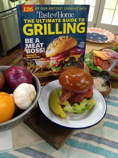 "@Taste of Home contributor Hannah Williams shares an original barbecue burger recipe from the magazine's ""Ultimate Guide to Grilling"" edition!"