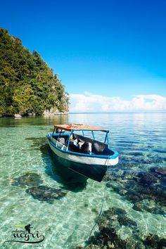 Pantai Ora berada persis di belakang perbukitan Taman Nasional Manusela, Maluku. Sekitar tujuh jam dari pusat Kota Ambon.Dari atas sampan, wisatawan bisa menikmati pemandangan dalam laut yang berair jernih. (Plasadana/Anugerah Suseno)
