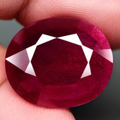 18.25CT.Precious Gem&Good Quality Natural JUMBO! Top Blood Red Ruby Rare size! #GEMNATURAL