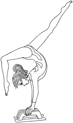 Gymnastics Coloring Pages Sports Coloring Pages