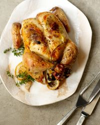 Michael Symon's recipe for Lizzie's Roasted Chicken is one of our favorite Classic recipes for a warm, comforting meal! #fwclassic