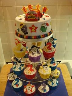 The Wiggles! Wiggles Birthday, Wiggles Party, 2 Birthday Cake, 1st Boy Birthday, 2nd Birthday Parties, Birthday Ideas, Wiggles Cake, The Wiggles, How To Use Fondant