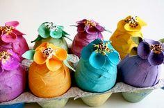 Colorful canvas egg tutorials